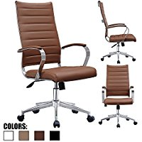 Buy Best 2xhome Brown - Modern High Back Tall Ribbed