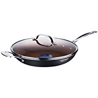 COOKSMARK Copper Pan 12-Inch Nonstick Induction Compatible Frying Pan