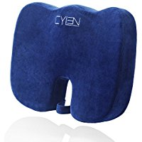 Buy CYLEN Home-Memory Foam Bamboo Charcoal Infused Ventilated Orthopedic Seat Cushion
