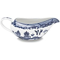 Buy Best HIC Blue Willow Gravy Boat, Fine White Porcelain