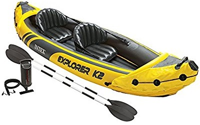 Top Best Intex Explorer K2 Kayak, 2-Person Inflatable Kayak Set