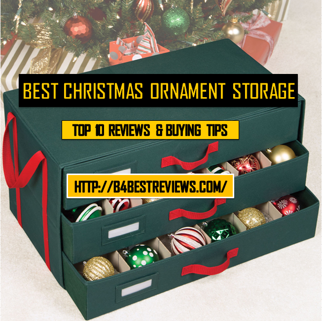 best christmas ornament storage containers boxes