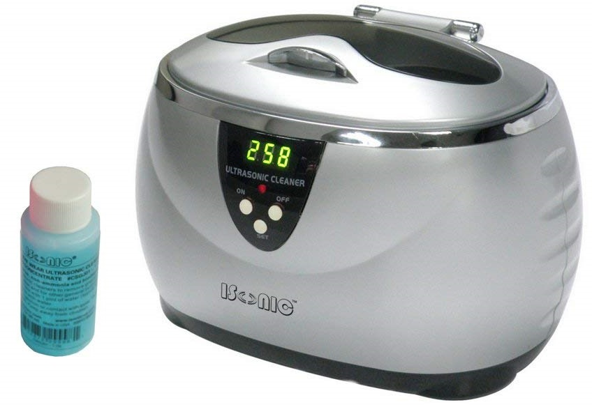 iSonic D3800A-S+1OZ Digital Ultrasonic Cleaner, Silver color