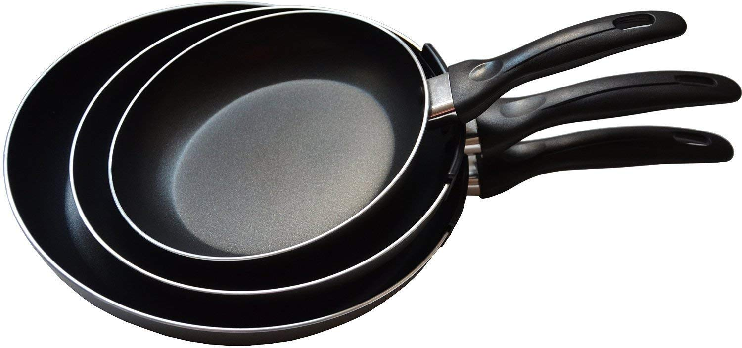 non stick frying pan with lid utopia