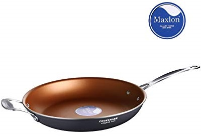 Top Best COOKSMARK Copper Pan 12-Inch Nonstick Induction Compatible Frying Pan