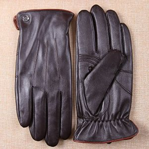 Luxury Men's Leather Made Driving Gloves